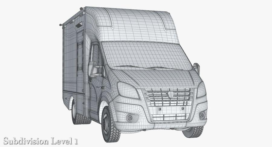 Ambulance Gazzele royalty-free 3d model - Preview no. 15