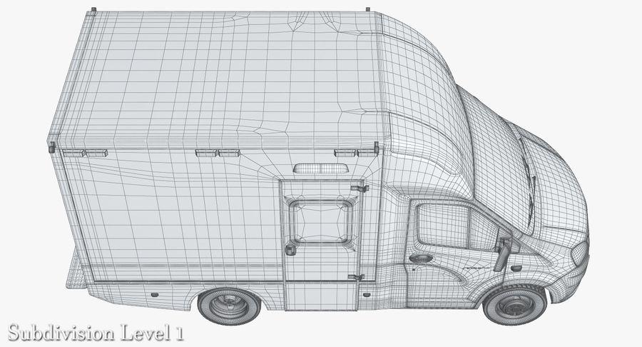 Ambulance Gazzele royalty-free 3d model - Preview no. 19