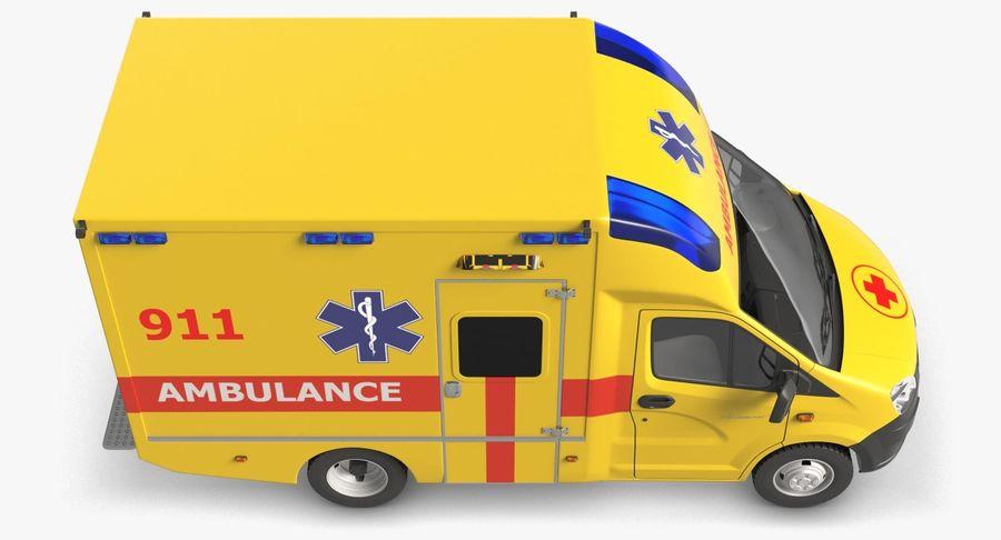 Ambulance Gazzele royalty-free 3d model - Preview no. 8