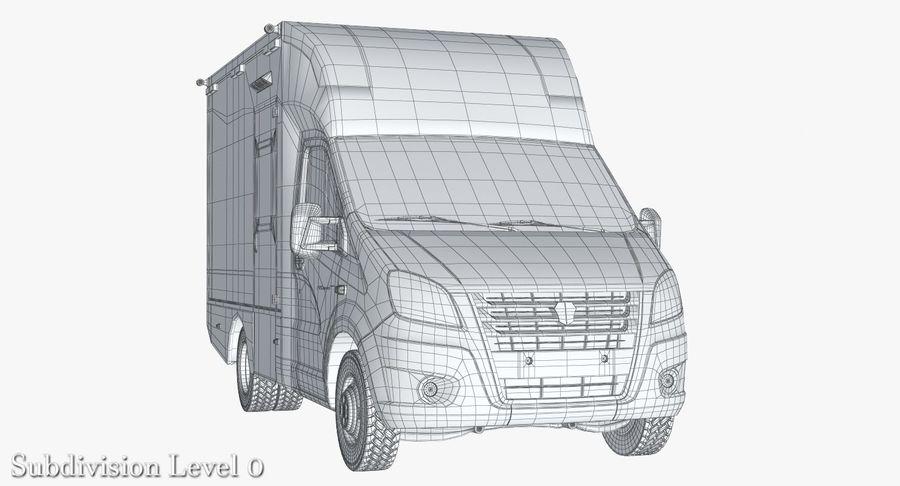 Ambulance Gazzele royalty-free 3d model - Preview no. 14