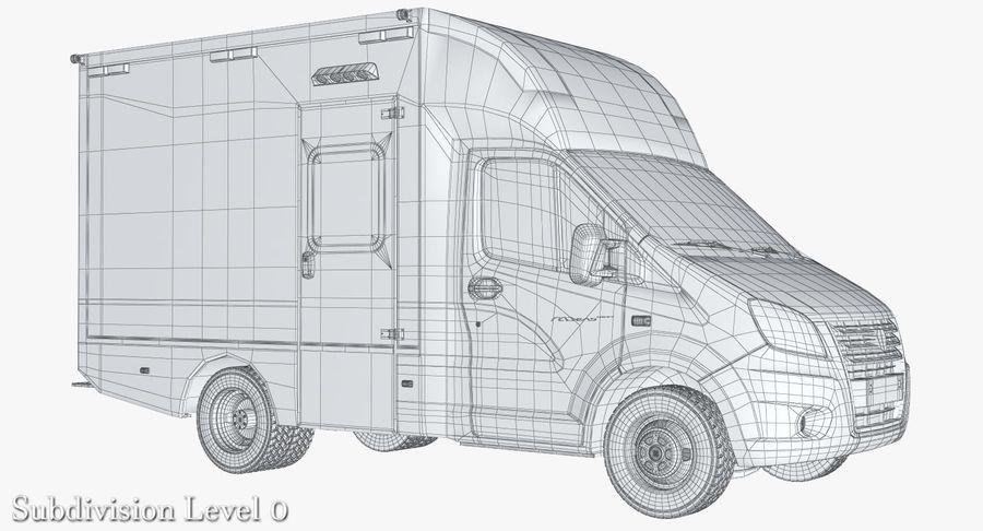 Ambulance Gazzele royalty-free 3d model - Preview no. 10