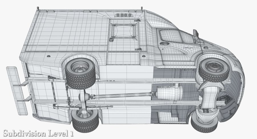 Ambulance Gazzele royalty-free 3d model - Preview no. 21
