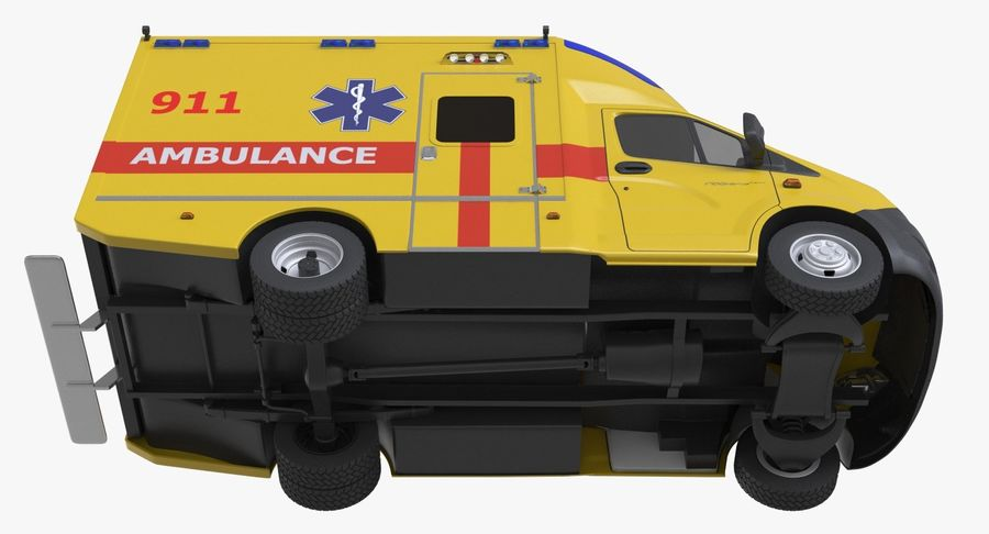 Ambulance Gazzele royalty-free 3d model - Preview no. 9