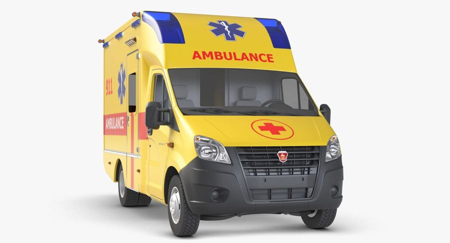 Ambulance Gazzele royalty-free 3d model - Preview no. 6