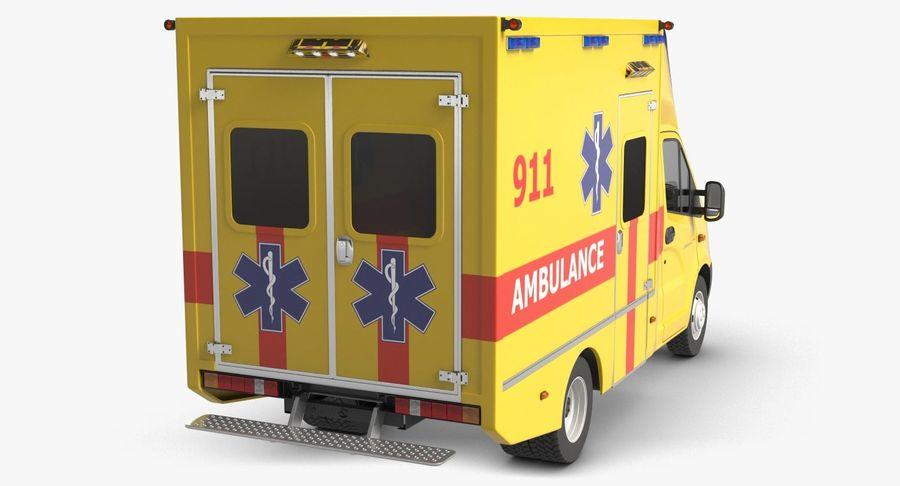 Ambulance Gazzele royalty-free 3d model - Preview no. 7