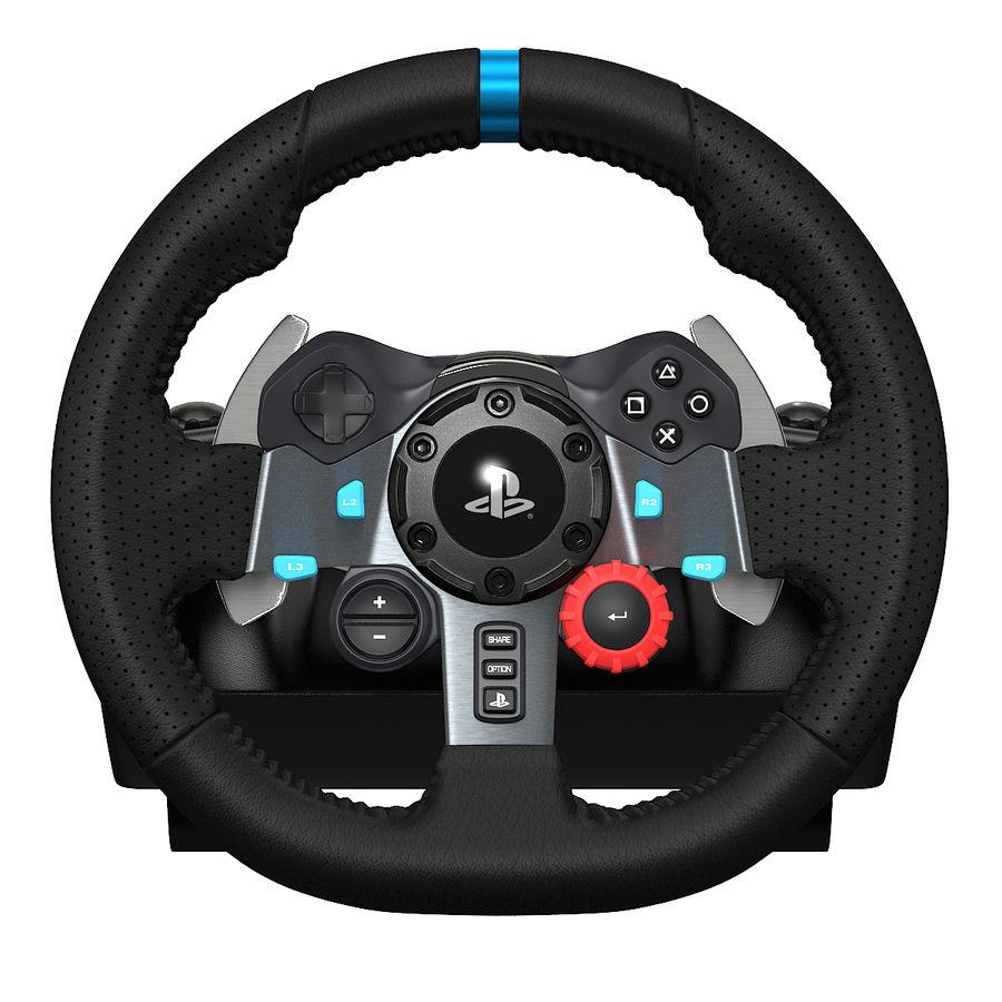 Kierownica wyścigowa Logitech G29 royalty-free 3d model - Preview no. 2