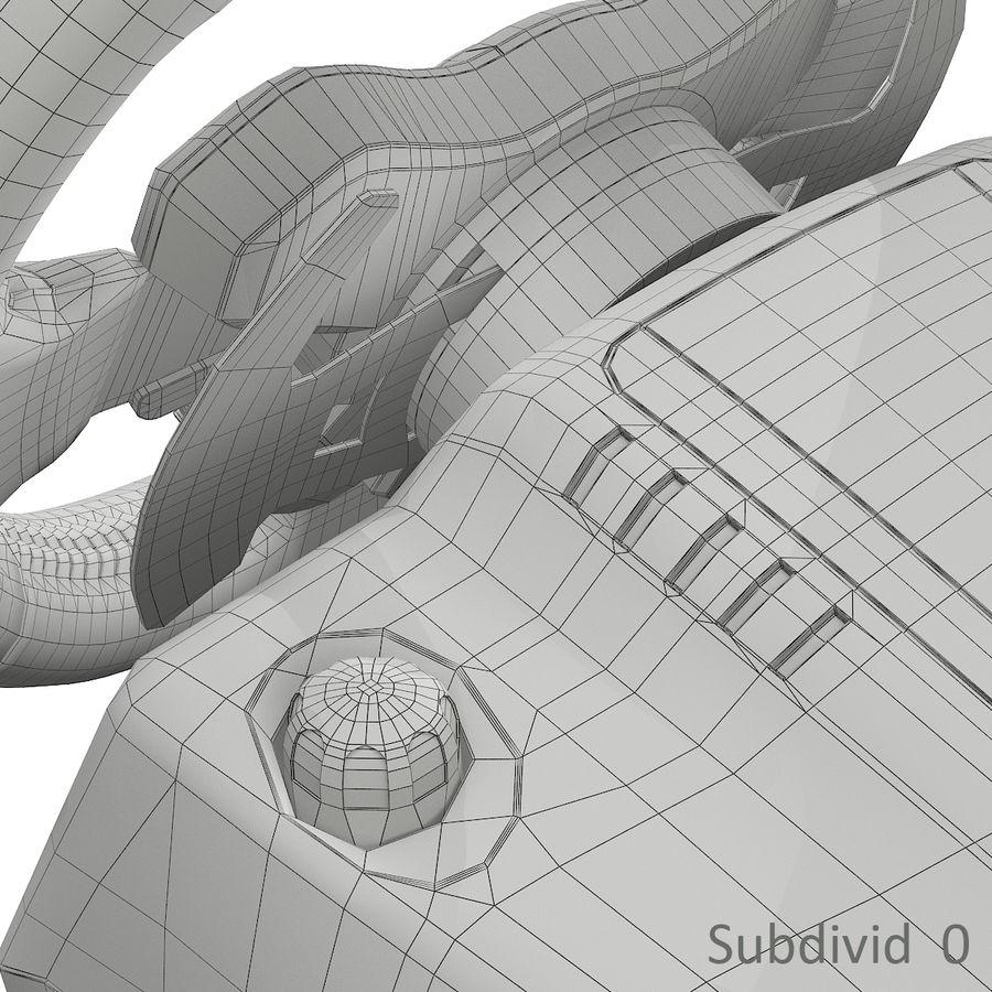 Kierownica wyścigowa Logitech G29 royalty-free 3d model - Preview no. 16