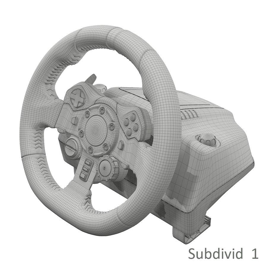 Kierownica wyścigowa Logitech G29 royalty-free 3d model - Preview no. 11