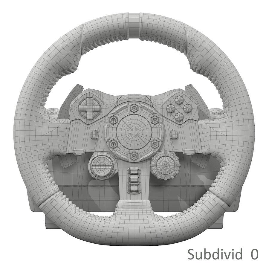 Kierownica wyścigowa Logitech G29 royalty-free 3d model - Preview no. 8