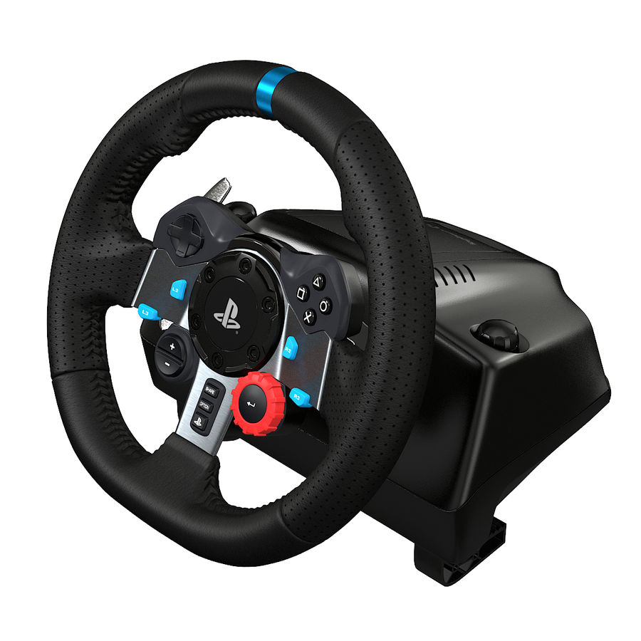 Kierownica wyścigowa Logitech G29 royalty-free 3d model - Preview no. 1