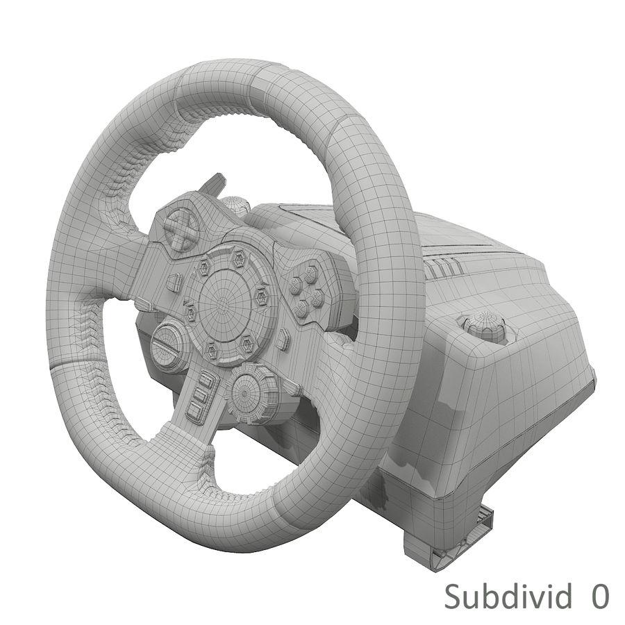 Kierownica wyścigowa Logitech G29 royalty-free 3d model - Preview no. 10