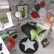 Teenage Girl Room 3d model