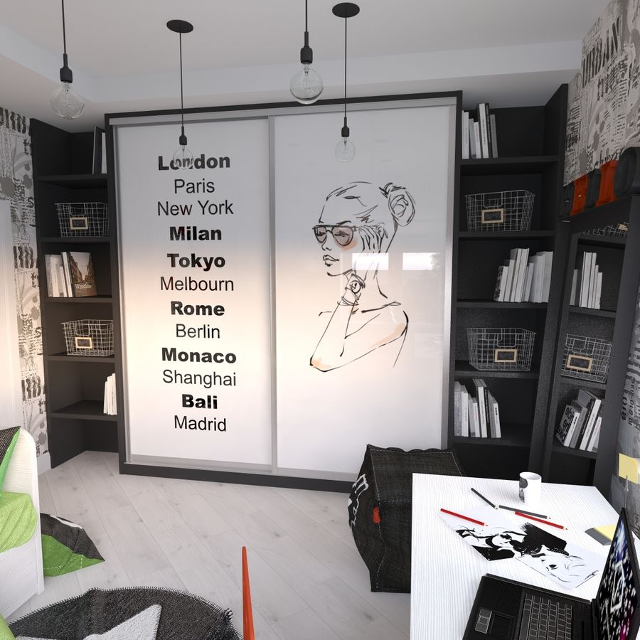 Genç Kız Odası royalty-free 3d model - Preview no. 5