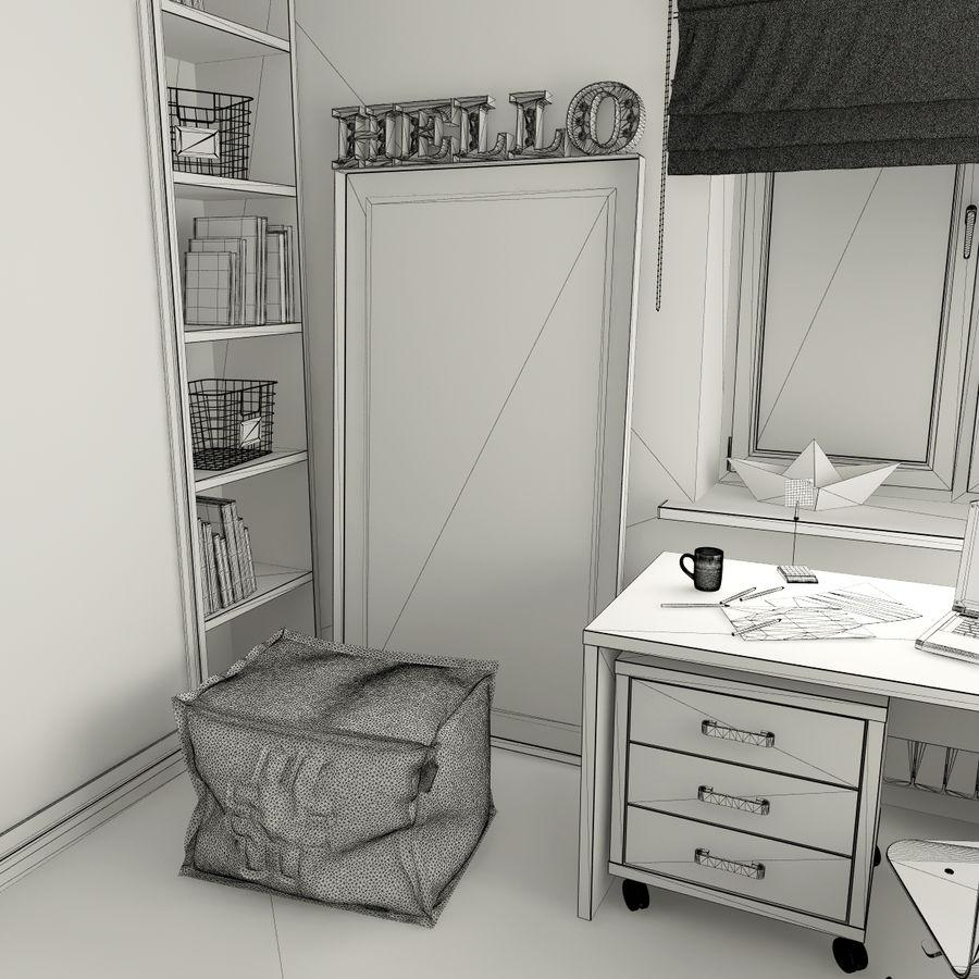 Genç Kız Odası royalty-free 3d model - Preview no. 9