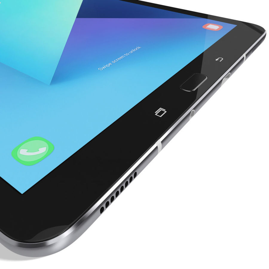 Samsung Galaxy Tab S3 S Pen & Keyboard ile Tüm Renkler (Arma) royalty-free 3d model - Preview no. 43