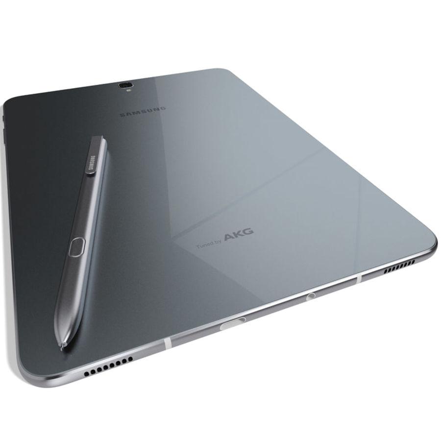 Samsung Galaxy Tab S3 S Pen & Keyboard ile Tüm Renkler (Arma) royalty-free 3d model - Preview no. 35