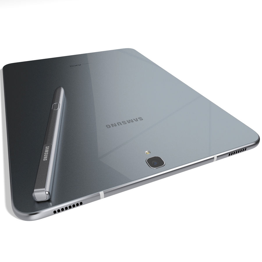 Samsung Galaxy Tab S3 S Pen & Keyboard ile Tüm Renkler (Arma) royalty-free 3d model - Preview no. 36