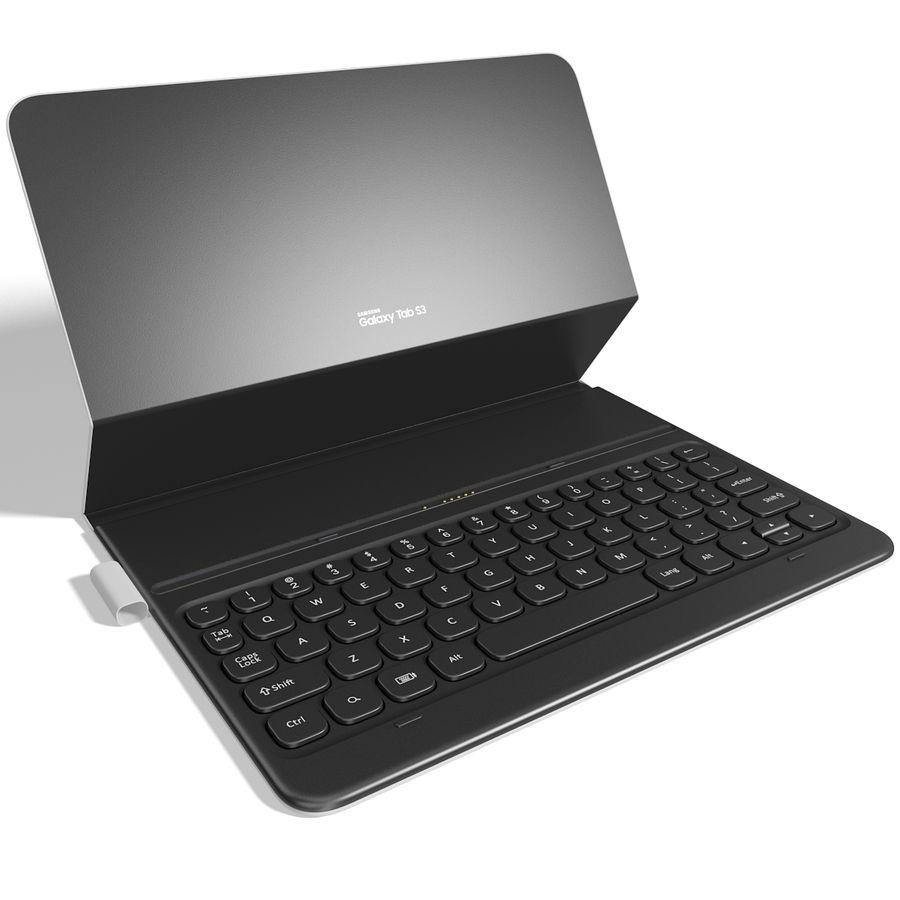 Samsung Galaxy Tab S3 S Pen & Keyboard ile Tüm Renkler (Arma) royalty-free 3d model - Preview no. 14