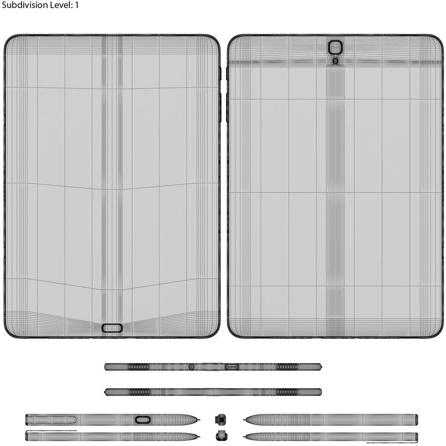 Samsung Galaxy Tab S3 S Pen & Keyboard ile Tüm Renkler (Arma) royalty-free 3d model - Preview no. 45