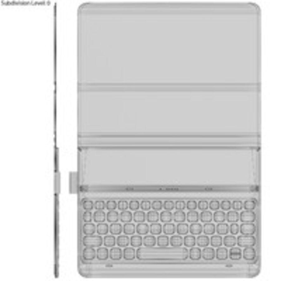 Samsung Galaxy Tab S3 S Pen & Keyboard ile Tüm Renkler (Arma) royalty-free 3d model - Preview no. 58