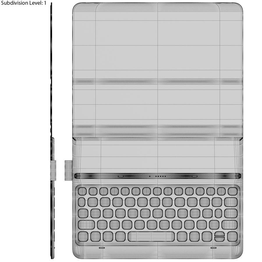 Samsung Galaxy Tab S3 S Pen & Keyboard ile Tüm Renkler (Arma) royalty-free 3d model - Preview no. 59
