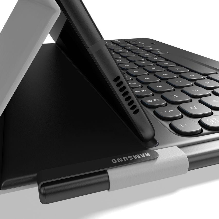 Samsung Galaxy Tab S3 S Pen & Keyboard ile Tüm Renkler (Arma) royalty-free 3d model - Preview no. 9