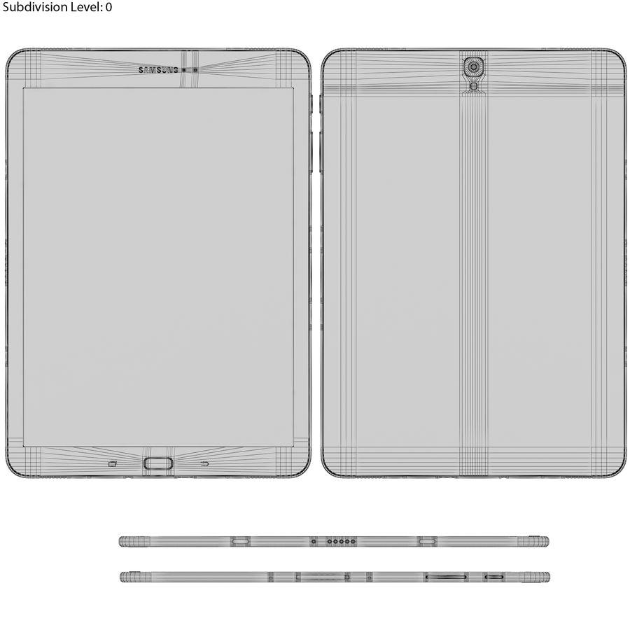 Samsung Galaxy Tab S3 S Pen & Keyboard ile Tüm Renkler (Arma) royalty-free 3d model - Preview no. 46
