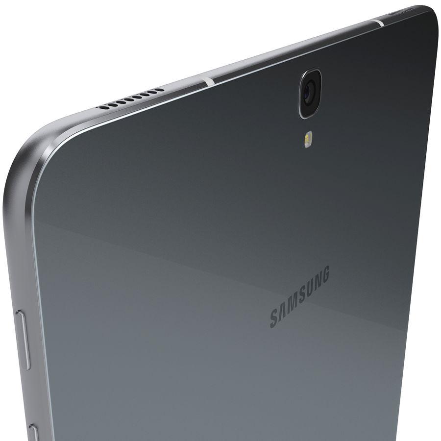 Samsung Galaxy Tab S3 S Pen & Keyboard ile Tüm Renkler (Arma) royalty-free 3d model - Preview no. 34