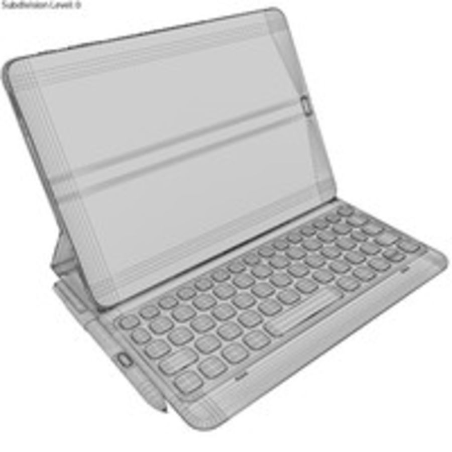 Samsung Galaxy Tab S3 S Pen & Keyboard ile Tüm Renkler (Arma) royalty-free 3d model - Preview no. 54