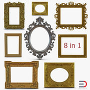 Baroque Picture Frames Collection 3 3d model