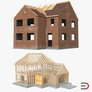 Collection de modèles 3D de construction de maisons privées 2 3d model