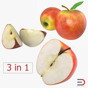 Apple Fruit Collection 2 3d model