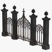 Cemetery Gates 02 3d model