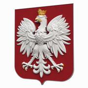 Escudo de armas de Polonia modelo 3d