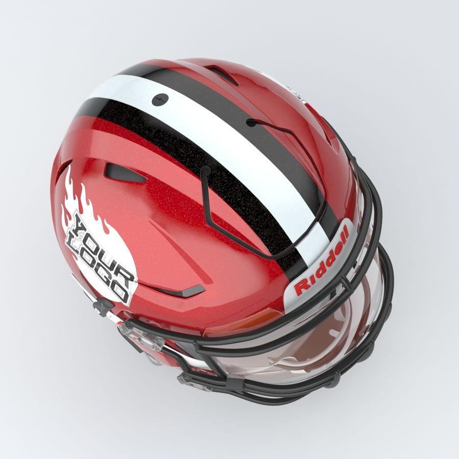 Fotboll hjälm Riddell Speedflex royalty-free 3d model - Preview no. 3