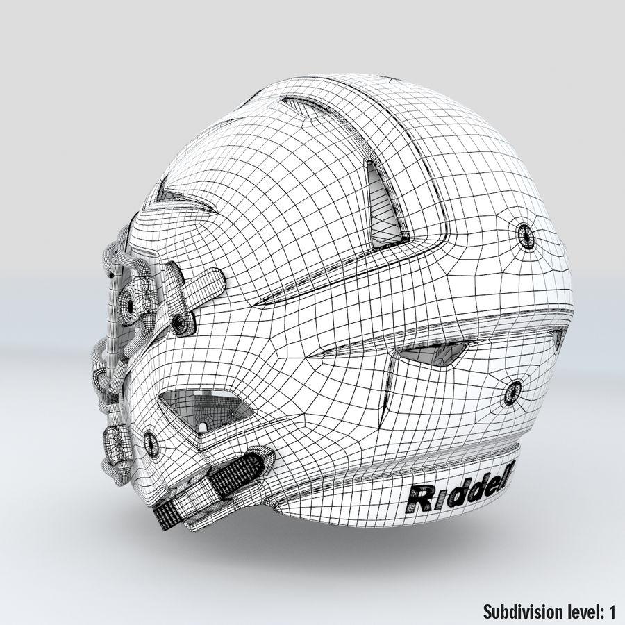 Fotboll hjälm Riddell Speedflex royalty-free 3d model - Preview no. 13