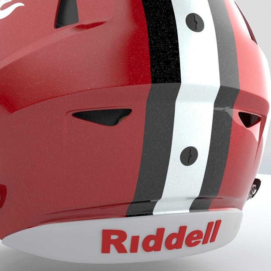 Fotboll hjälm Riddell Speedflex royalty-free 3d model - Preview no. 6