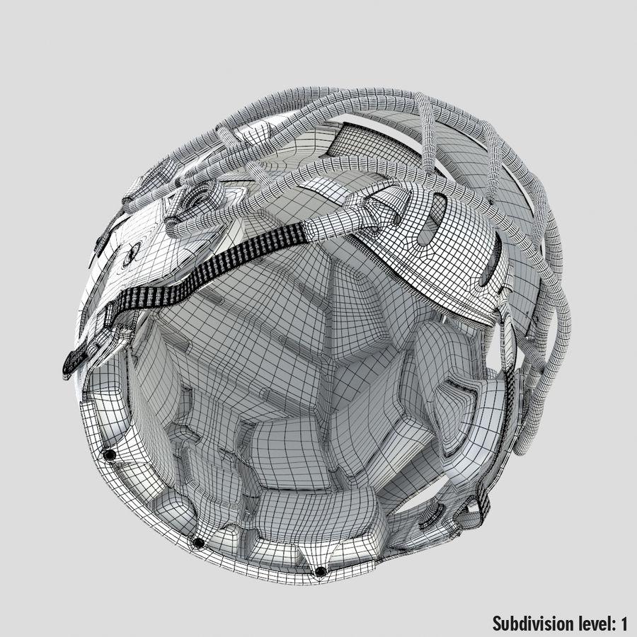 Fotboll hjälm Riddell Speedflex royalty-free 3d model - Preview no. 19