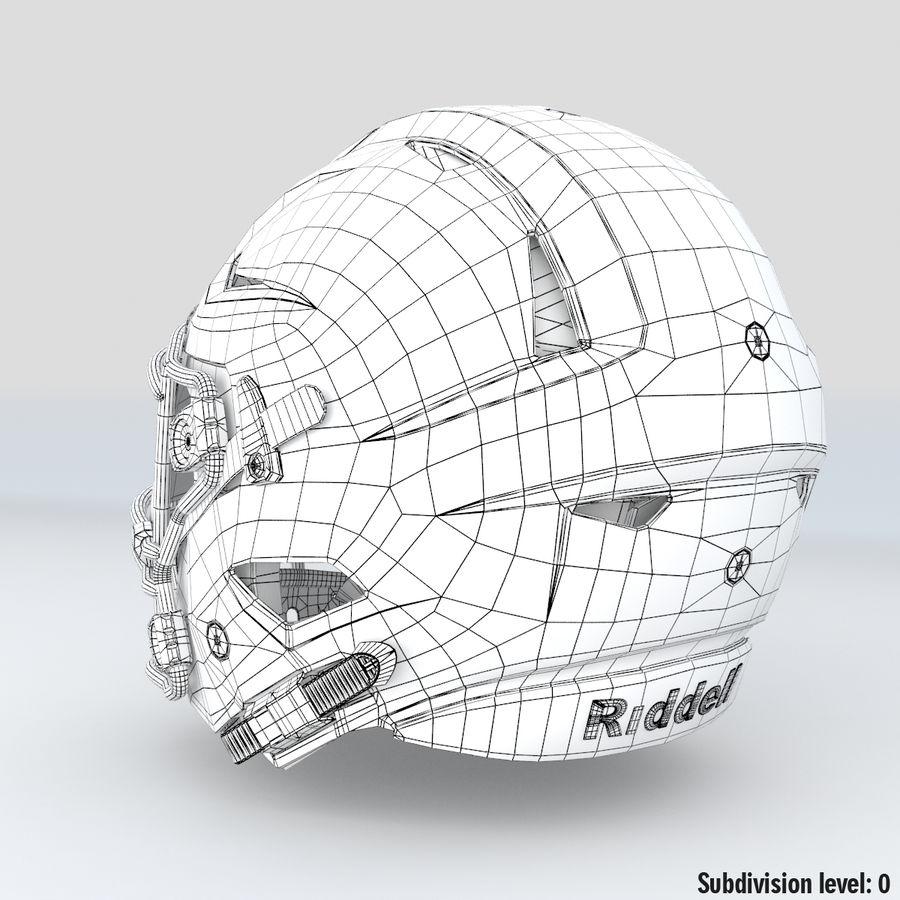 Fotboll hjälm Riddell Speedflex royalty-free 3d model - Preview no. 14