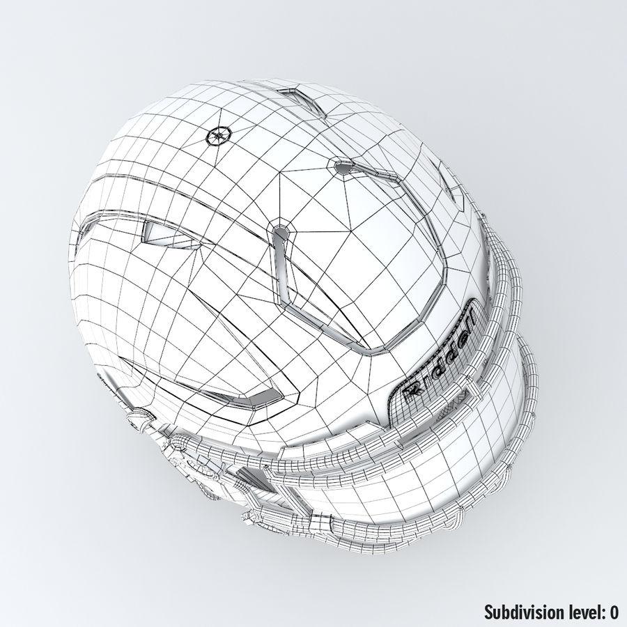 Fotboll hjälm Riddell Speedflex royalty-free 3d model - Preview no. 18