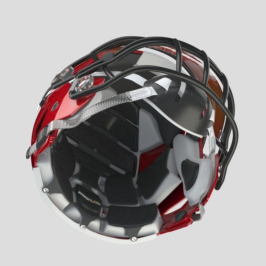 Fotboll hjälm Riddell Speedflex royalty-free 3d model - Preview no. 4