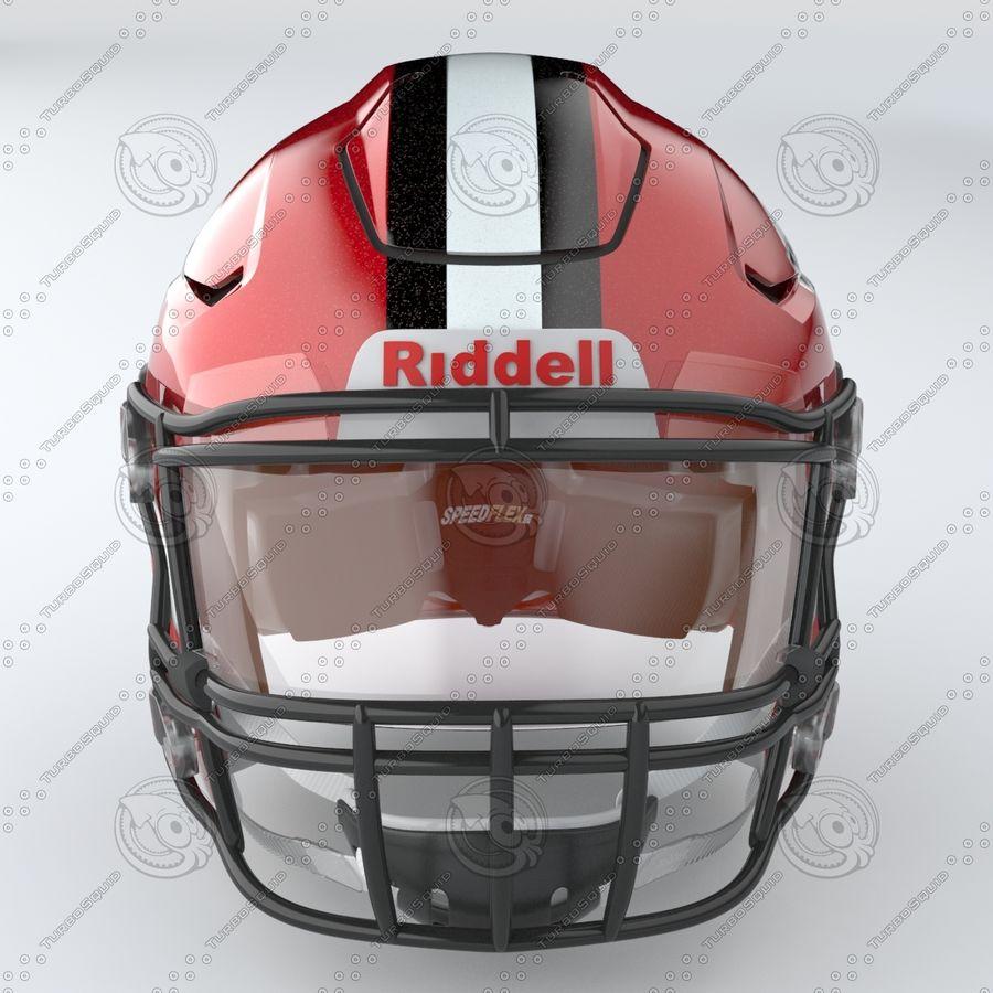 Fotboll hjälm Riddell Speedflex royalty-free 3d model - Preview no. 8