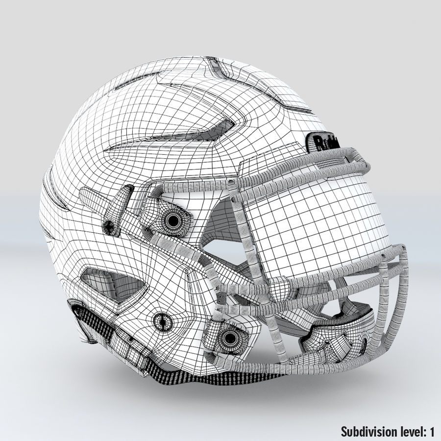 Fotboll hjälm Riddell Speedflex royalty-free 3d model - Preview no. 16