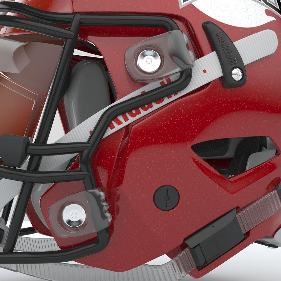 Fotboll hjälm Riddell Speedflex royalty-free 3d model - Preview no. 7