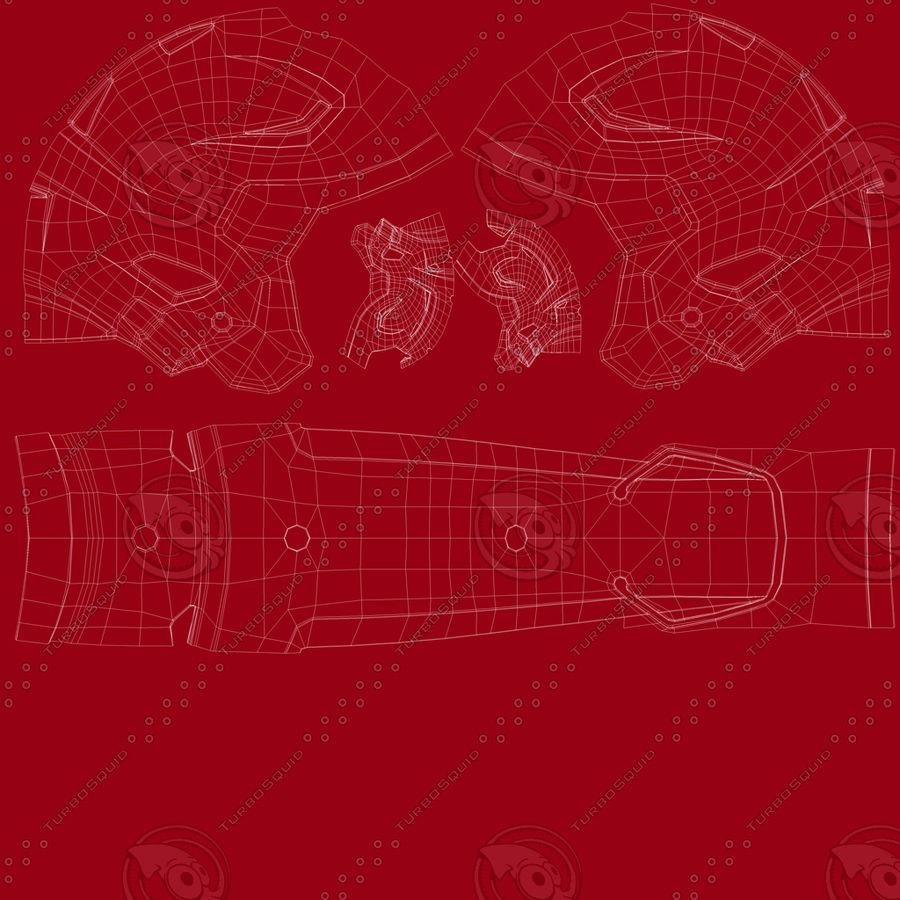 Fotboll hjälm Riddell Speedflex royalty-free 3d model - Preview no. 21