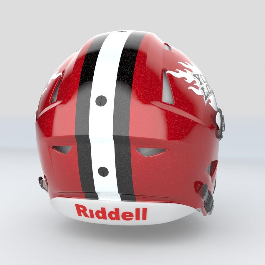 Fotboll hjälm Riddell Speedflex royalty-free 3d model - Preview no. 10