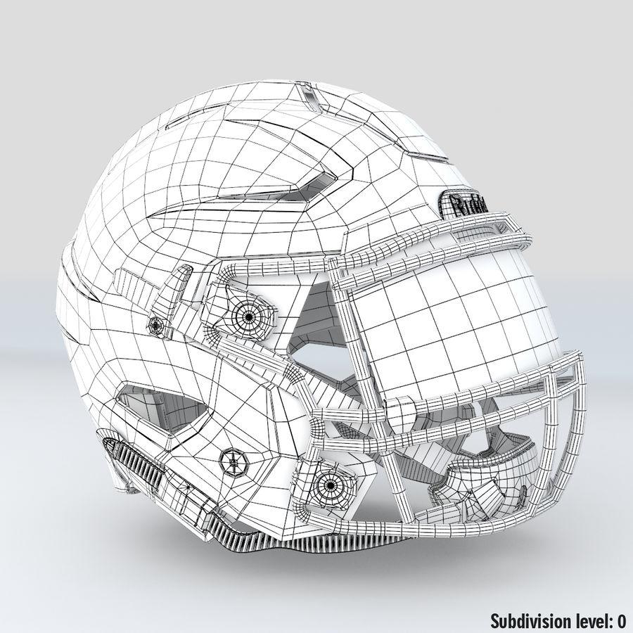 Fotboll hjälm Riddell Speedflex royalty-free 3d model - Preview no. 15