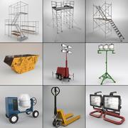 conjunto industrial modelo 3d