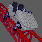 roller coaster rigged 3d model
