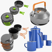 Camping Cookware Collection 01 3d model